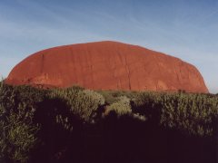 Ayers Rock from sunrise point