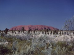 Ayers Rock from sunset point